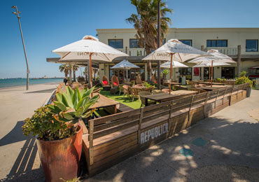 out door beach ocean sand tables and chairs st. kilda republica